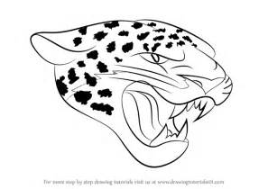 Drawing Of A Jaguar Learn How To Draw Jacksonville Jaguars Logo Nfl Step By