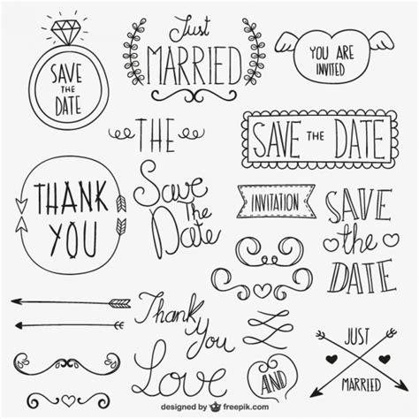 wedding invitation ornaments vector calligraphic wedding ornaments vector free