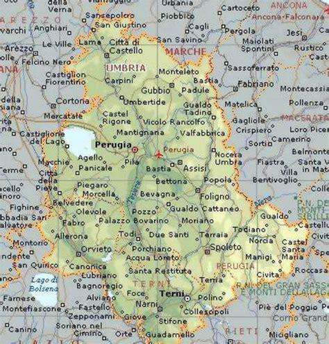 dell umbria cartina geografica della regione umbria mappa o carta