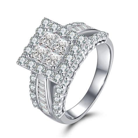 gorgeous princess cut 925 sterling silver white sapphire
