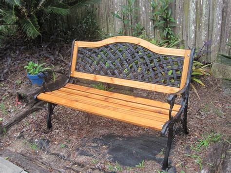 amma cedar log bench design this is a cast iron bench that i refurbished i installed