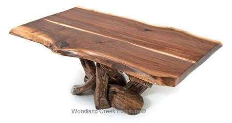 rustic black walnut coffee table log cabin coffee table