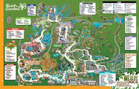 Busch Gardens Location by Busch Gardens Va Park Map Pdf Sciposts6p