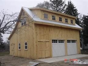 Garage Kits With Loft by Saltbox Garage With Loft Broken Back Salt Box Post Beam