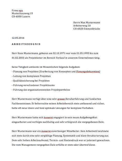 Muster Lehrzeugnis Schweiz Arbeitszeugnisse Vorlagen Muster Vorlage Ch