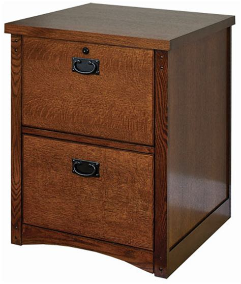 mission oak 2 drawer locking wood file cabinet fits