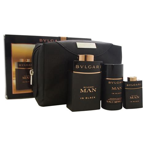 Set Bvlgari bvlgari in black by for 4 pc gift set 3 4oz edp spray 0 5oz edp spray 2 7oz