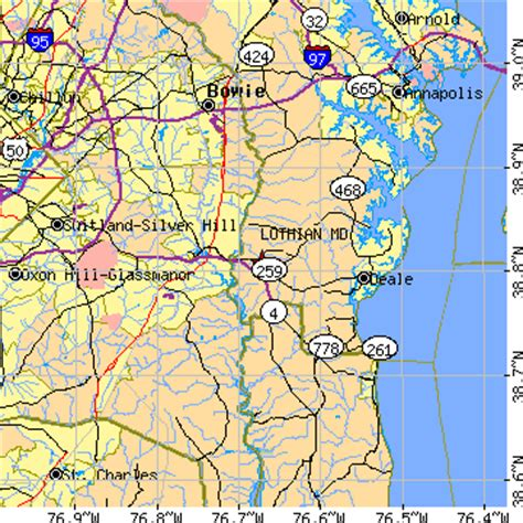zip code map upper marlboro md lothian maryland md population data races housing