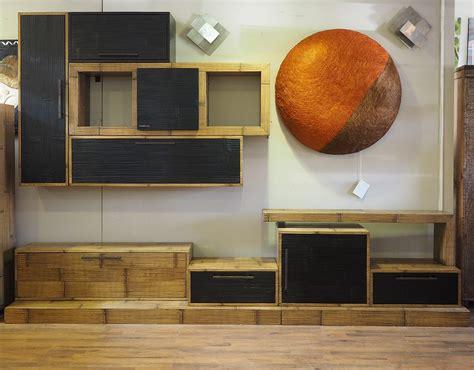 mobili soggiorno etnici mobile soggiorno etnico moderno in legno e bambu