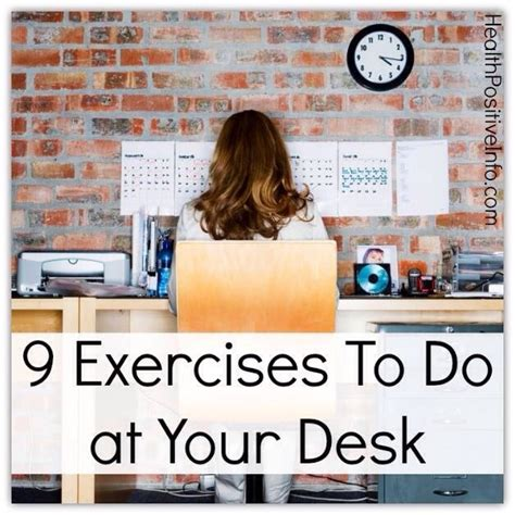 9 exercises to do at your desk musely