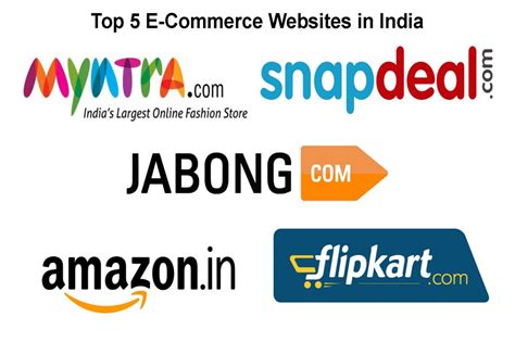 best e commerce site top five e commerce websites in india