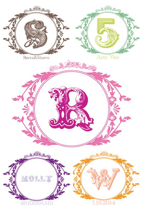 7 best images of printable wedding monogram templates