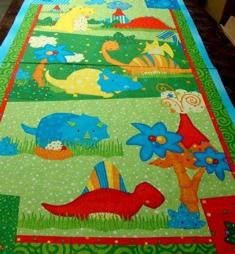 Dinosaur Quilt by 1 Panel Quilt Fabric Classic Jurassic Dinosaur Green