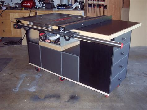 Table Saw Workstation Plans by Bakes Table Saw Cabinet Woodworking Plan