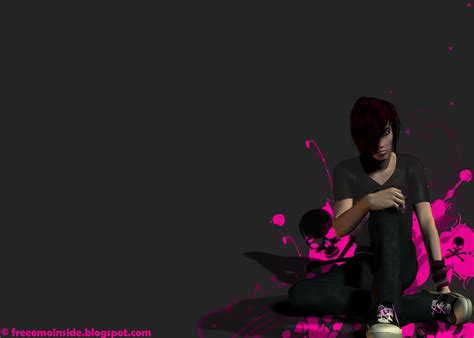 wallpapers download cute emo boy pic new posts emo wallpapers for nokia 5233