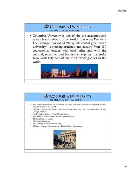 Columbia Mba Info Session by Apresenta 231 227 O Da Universidade De Columbia Info Session Enap