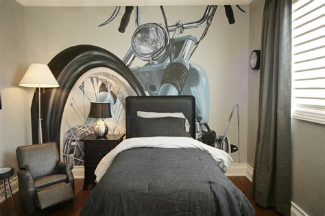 gray themed bedrooms teen bedroom wall decor motorbike themed gray design artenzo