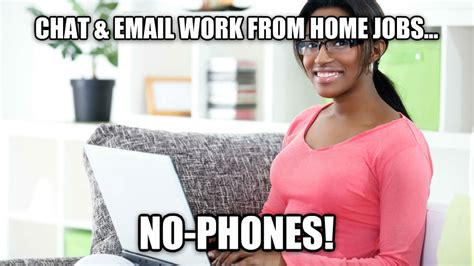 chat email work from home jobs no phones work from