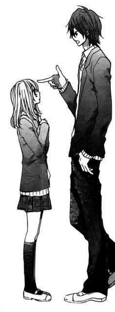 anime couple tall guy short girl tall guy meets short girl hiyokoi manga pinterest