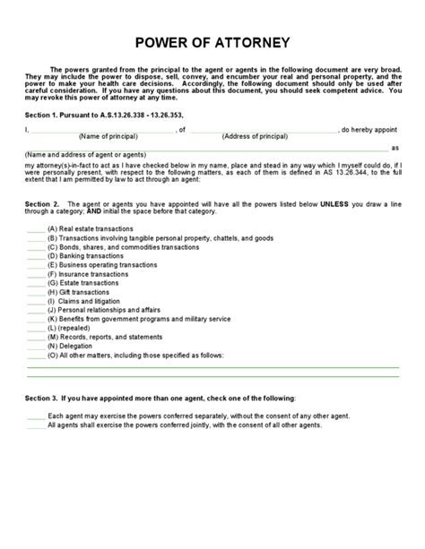poa template alaska general power of attorney form legalforms org