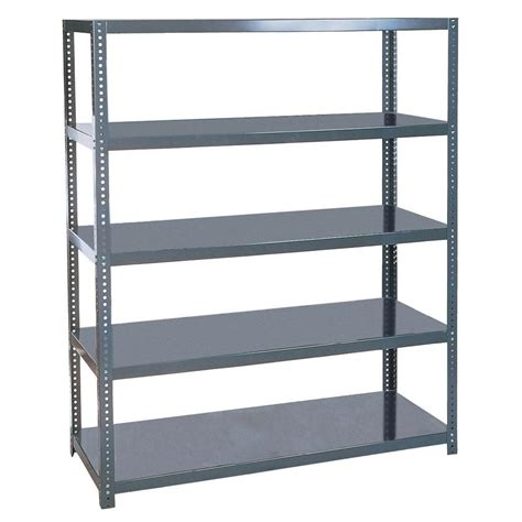 gladiator 73 in h x 77 in w x 24 in d 4 shelf welded steel garage shelving unit gars774xeg