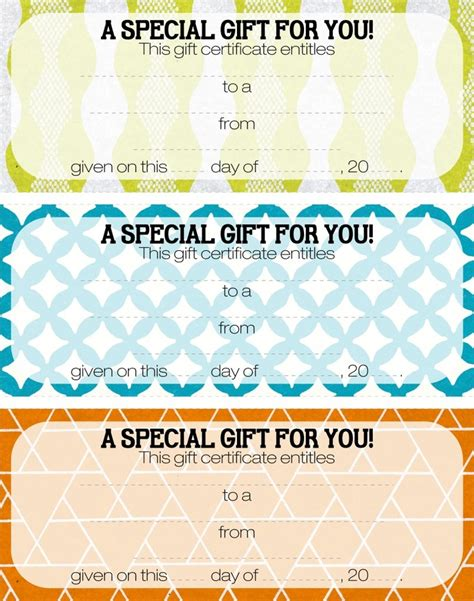 pizza gift certificate template 22 best gift certificate printables images on