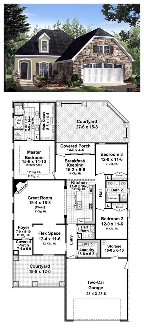 country floor plans country style open floor plans contemporary interior