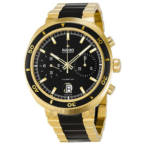 rado d chronograph automatic yellow gold pvd and