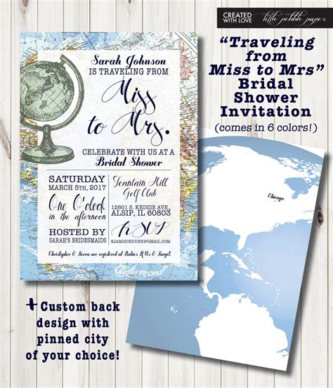 Travel Themed Bridal Shower by Travel Themed Bridal Shower Invitation Around The World