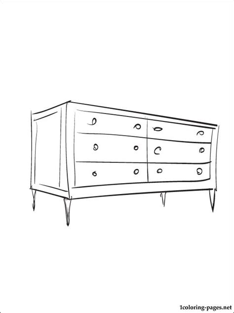 coloring page dresser coloring pages