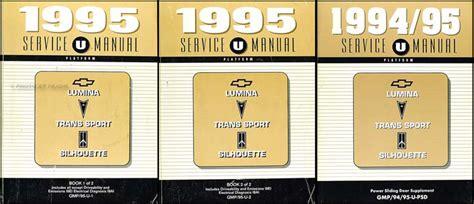 automotive repair manual 1995 pontiac trans sport parking system 1995 chevy lumina van olds silhouette pontiac trans sport
