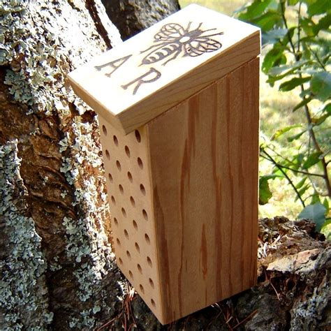 Green Steps Building A Mason Bee House Three Hundred