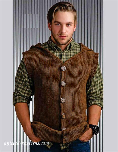 knitting pattern men s sweater vest men s sleeveless jacket crochet pattern free