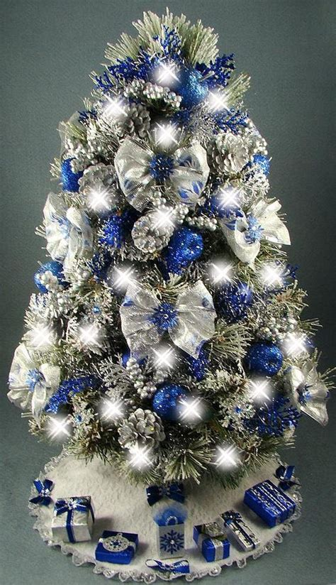 blue and silver decorated christmas trees decorate your tree with special themes