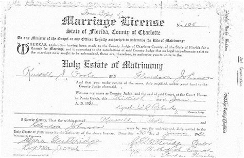 Search Florida Marriage Records Page 811