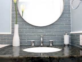 Cool Bathroom Tile Ideas Cool Glass Tile Backsplash In Bathroom Ideas 4467