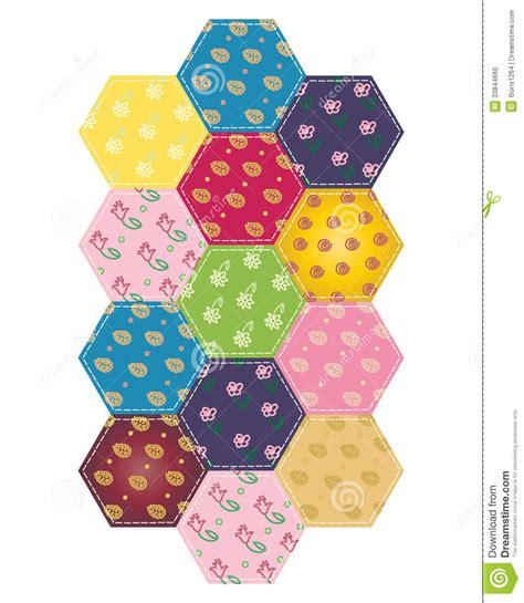 Patchwork Pieces - patchwork stock photo image 33844660