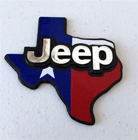 Jeep Texas Flag Lone Star State 3d Emblem 21 95