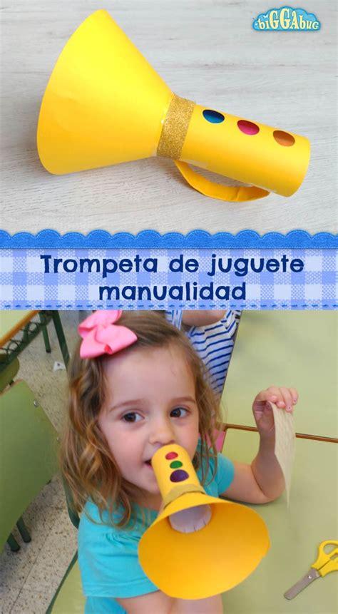 trompeta de reciclaje trompeta de juguete manualidad de reciclaje tea time