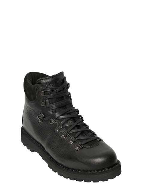 diemme roccia vet leather hiking boots in black save 31