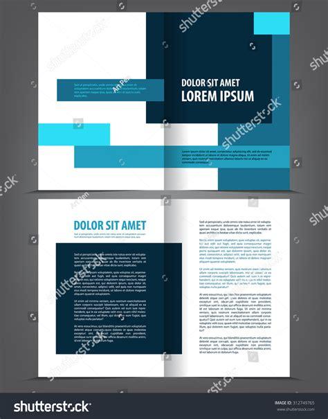 booklet layout design download vector empty bifold brochure print template stock vector