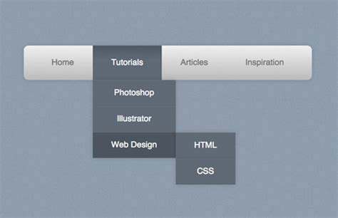 html layout left menu how to create a pure css dropdown menu