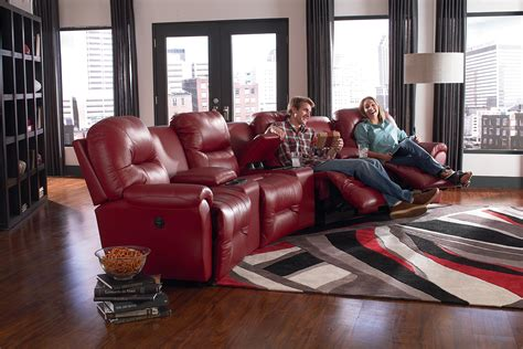 home decor furnishings 4 seater power reclining home theater by best home
