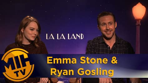 emma stone ryan gosling interview emma stone ryan gosling la la land interview youtube