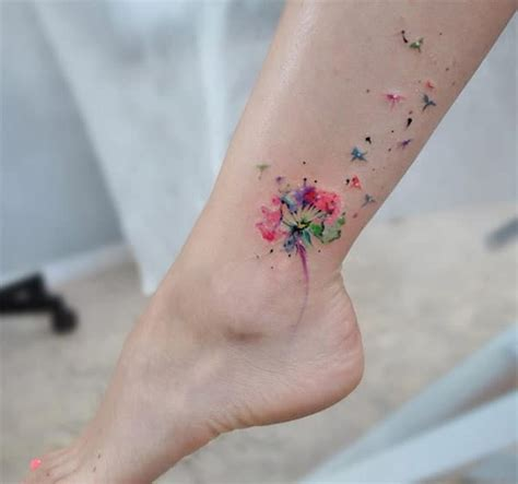 leg tattoos cool watercolor leg tattoos for women