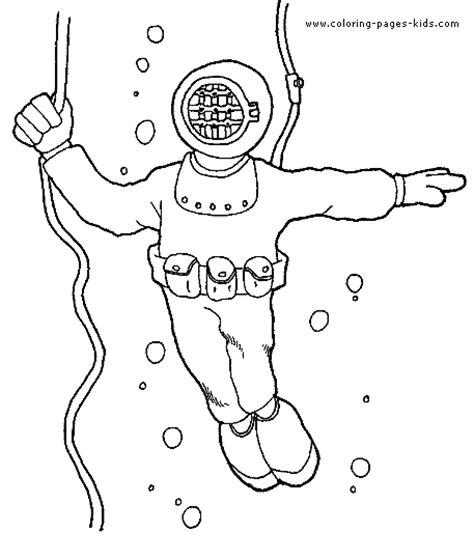 Printable Scuba Diver Coloring Pages by Scuba Diver Coloring Page Coloring Page