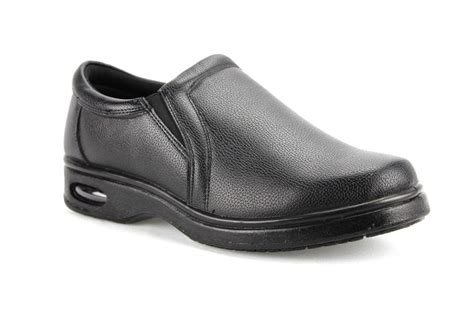 mens black resturant lightweight work shoes non slip