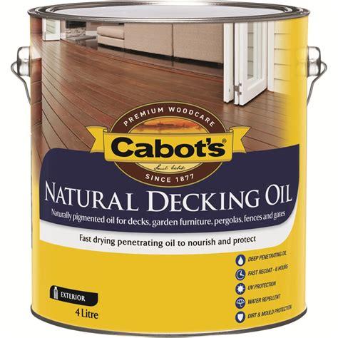 cabots  jarrah natural decking oil bunnings warehouse