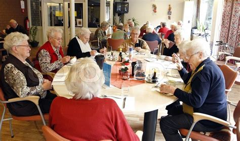 preview best retirement home stress free in south texas fine old people having lunch in an elderly home stock photo
