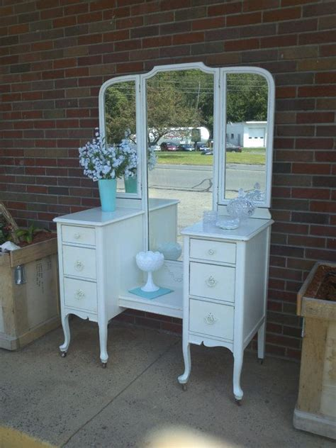 Shabby Chic Vanity Table Circa 20 S Antique White Vanity Dressing Table Salvaged Shabby Chic D